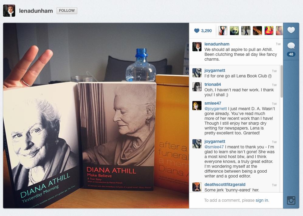 Lena Dunham Instagram
