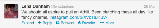 Lena Dunham twitter