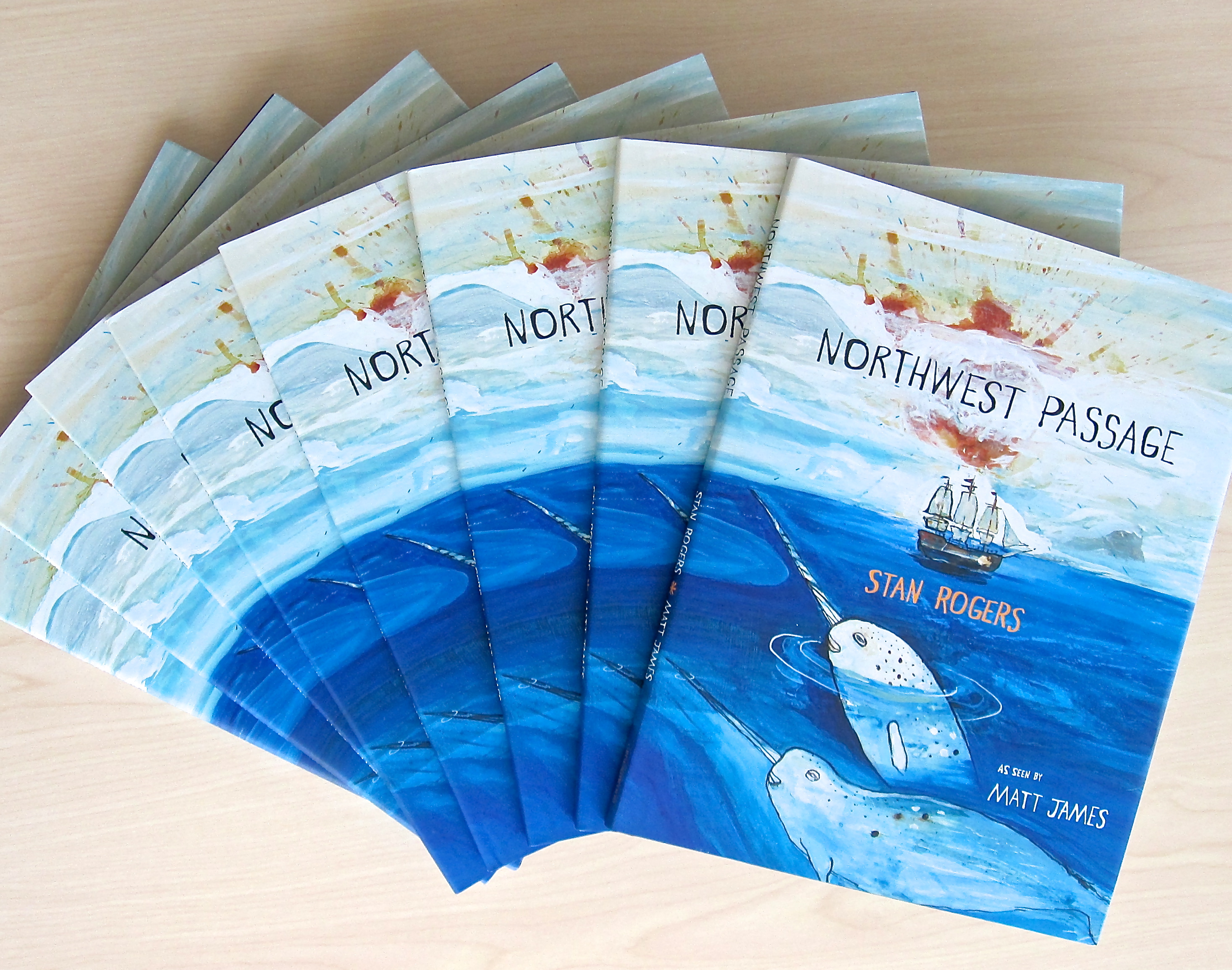 Hot off the press: Northwest Passage by Stan Rogers, illustrated with pictures and commentary by Matt James, available September 2013.