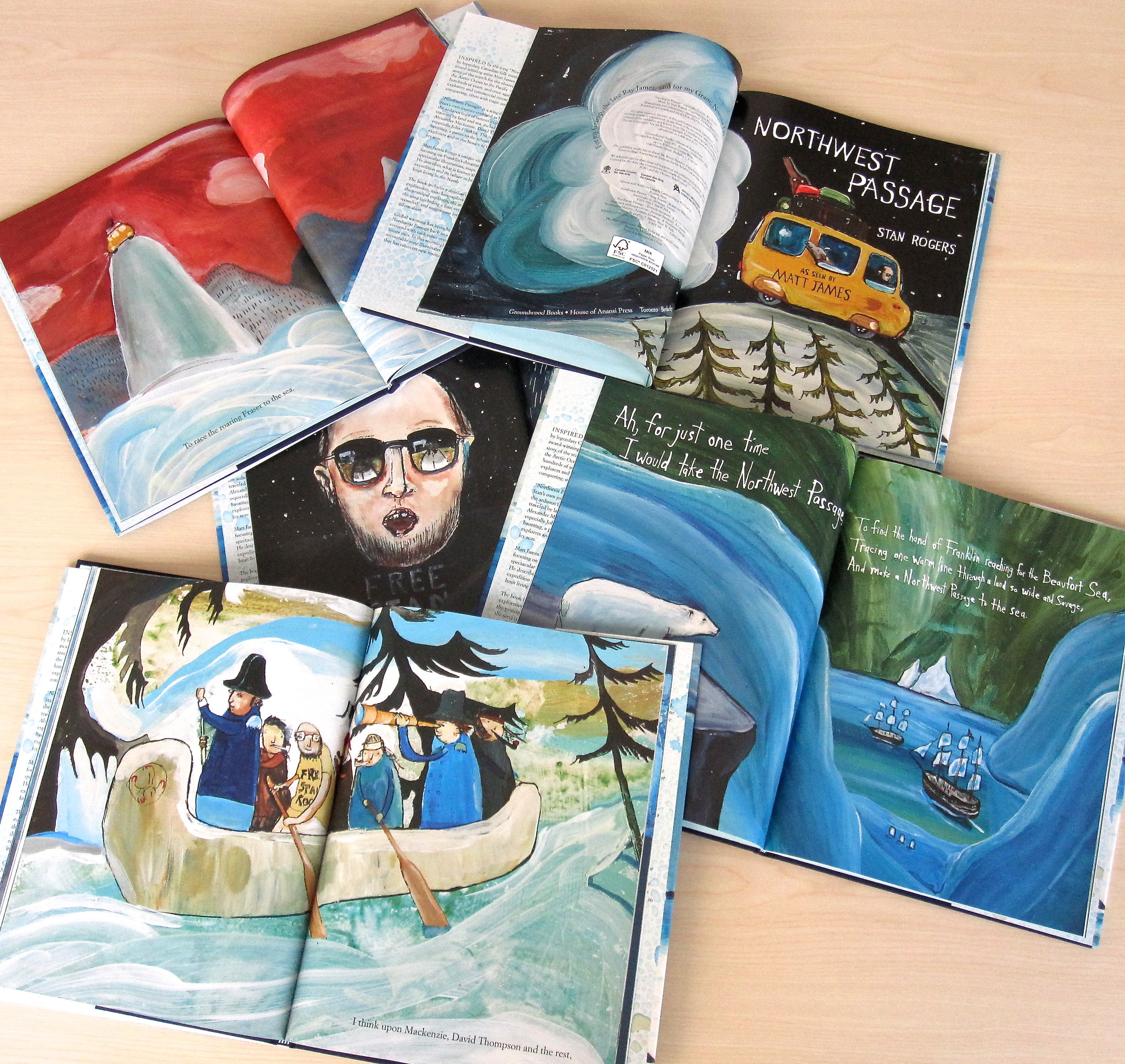 Hot off the press: Northwest Passage by Stan Rogers, with pictures and commentary by Matt James, available September 2013.