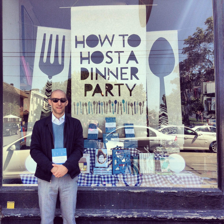 Corey Mintz with his window. Photo courtesy of @typebooks