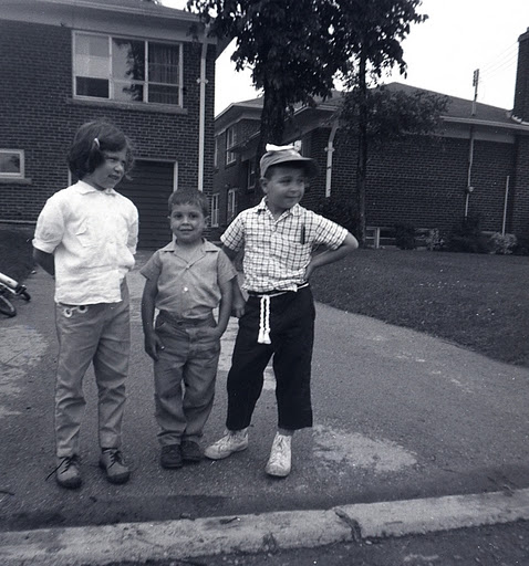 Left to right: Cary Fagan's cousin Ellen, Cary, and his brother Mark.