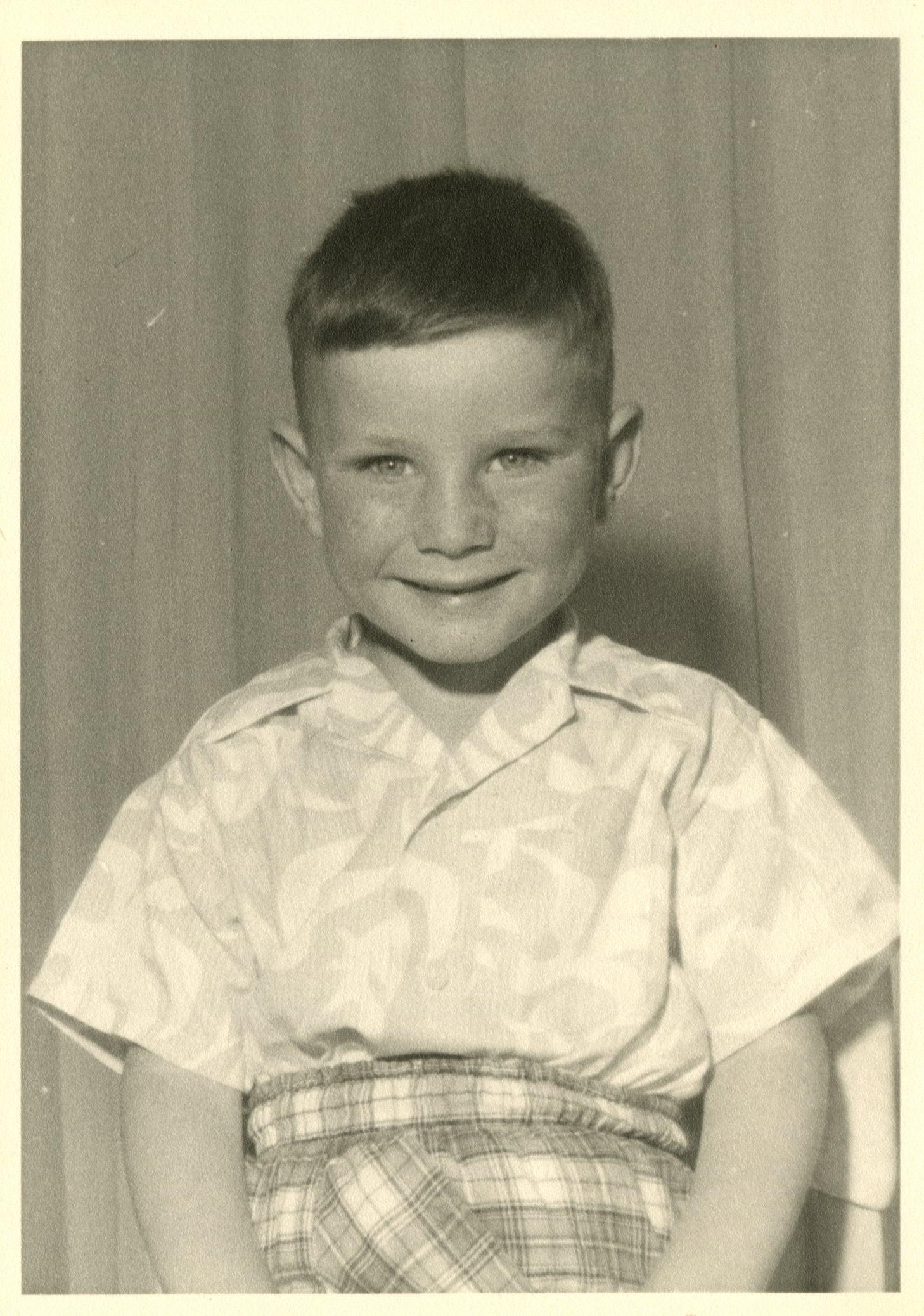 Ian Wallace as a boy