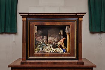 'The Plague' in its cabinet at the La Specola museum in Florence, which houses all the works shown here