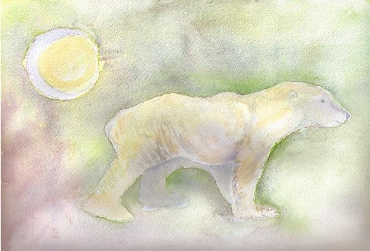 small file Beechy Island polar bear moonlit