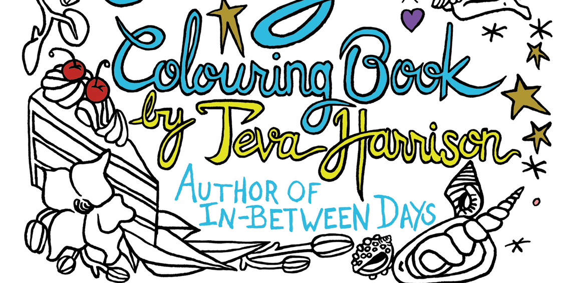 The Joyful Living Colouring Book by Teva Harrison