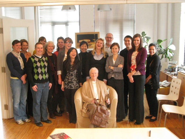 Team Anansi with Diana Athill in 2009