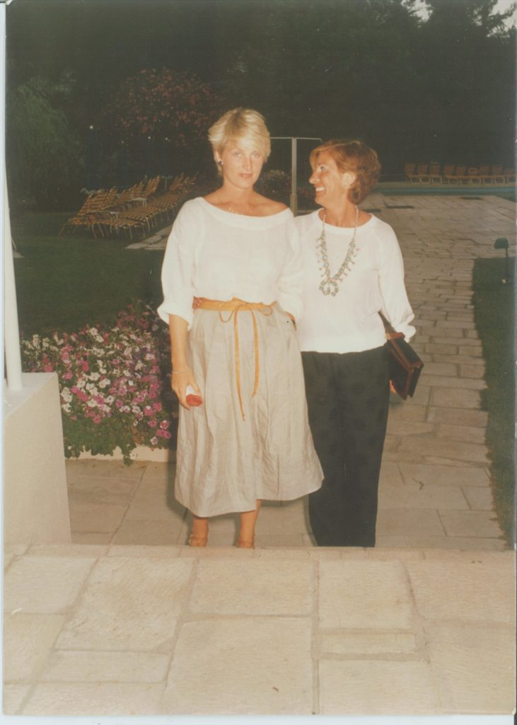 Karen von Hahn and her mother